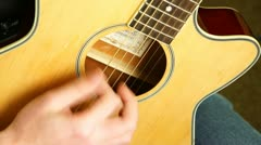 Playing the Guitar Stock Footage