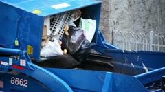 Trash Truck 01 HD Stock Footage