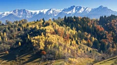 Autumn landscape in the mountains Stock Footage