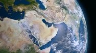 Stock Video Footage of Earth 3d view from space. Middle East.