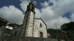 Spain Galicia San Andres de Teixido church timelapse 3 Stock Footage