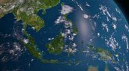Stock Video Footage of Earth 3d view from space. South East Asia.