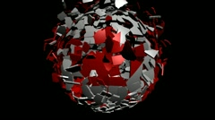 Stock Video Footage of Canada flag sphere converging animation