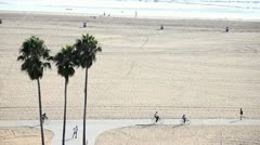 Bikes on the Beach - stock footage