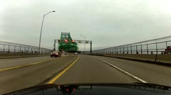 Jacques Cartier Bridge - middle lane Stock Footage