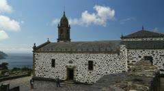 Spain Galicia San Andres de Teixido church 1 Stock Footage