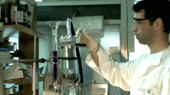 Chemistry Lab  - Working Chemist 1 Stock Footage