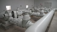 Stock Video Footage of Municipal Water utility district pipes storage facility