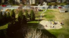 TiltShift playground 02 Stock Footage