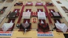 Granada decorations Corpus Cristi - stock footage