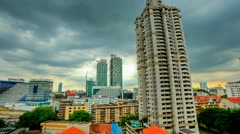 Storm is coming Over Kuala Lumpur Skyline, Timelapse in HDR - stock footage