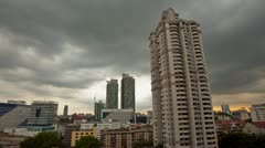Storm is coming over Kuala Lumpur Skyline, Timelapse Stock Footage