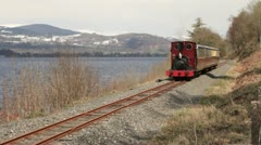 Bala lake light railway, Snowdonia national park, wales Stock Footage