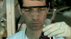 Chemistry Lab  - Working Chemist 6 Stock Footage