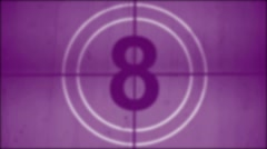 Universal countdown leader - stock footage