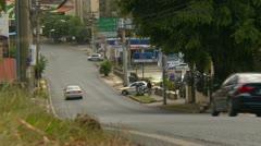 Panama City traffic, long shot nice hill Stock Footage