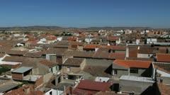 Spain Castile Calzada de Calatrava rooftops tiles 1 Stock Footage