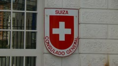 Swiss consulate in Panama City Stock Footage