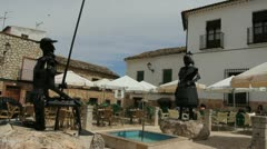 La Mancha El Tobasco statues Stock Footage