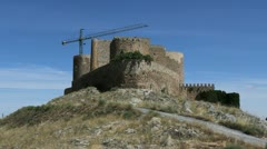 La Mancha castle at Consuegra Stock Footage
