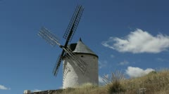 La Mancha windmills at Consuegra timelapse 6 Stock Footage