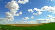 Wheat plane field crop and shiny cloud 7 Stock Footage