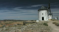 Spain La Mancha windmills at Consuegra 9 Stock Footage
