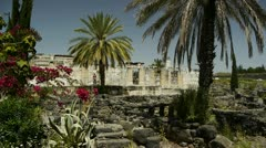 Capernaum synagogue 1 Stock Footage