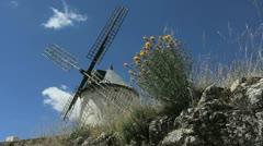 Spain La Mancha windmills Consuegra timelapse 7 Stock Footage