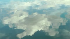 Sky reflection lake Stock Footage