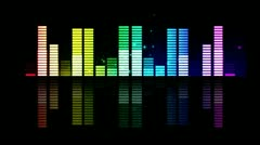 Sound graphic equalizer rainbow particle style ( Series 9-Version From 1 to 12 ) Stock Footage