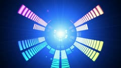 Sound graphic equalizer rainbow particle style 10 Stock Footage