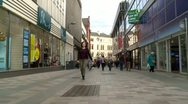 Belfast Timelapse Walk Through Busy Shopping Street Stock Footage