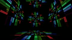 Sound graphic equalizer rainbow particle style 5 Stock Footage