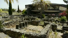 Capernaum synagogue 2 Stock Footage