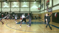 NBA Warm Up Shooting 2 Stock Footage