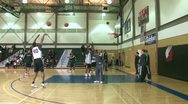Stock Video Footage of NBA Warm Up Shooting 4