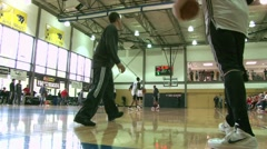 Trailblazer Basketball Training 3 Stock Footage