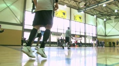Trailblazer Basketball Training 4 Stock Footage