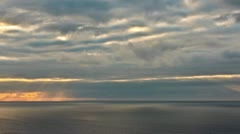 Time-lapse of storm clouds over the Atlantic ocean from a high point of view - stock footage