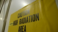 Very High Radiation sign Stock Footage