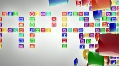 Icon with alpha Stock Footage