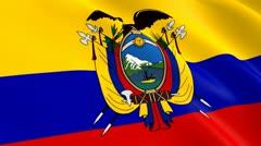 Flag of ecuador Stock Footage