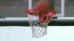 Basketball Swish Stock Footage