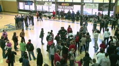 Basketball Post Game Crowd 1 Stock Footage
