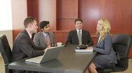 Business people meeting in conference room Stock Footage