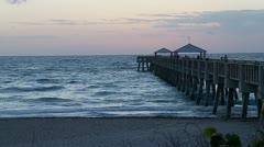 Sunrise over Pier Stock Footage