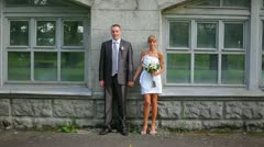 wedding grimace - stock footage