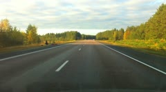 Driving a car point of view timelapse video Stock Footage