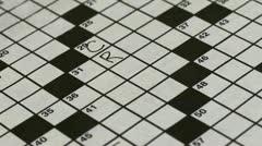 Crossword Timelapse Stock Footage